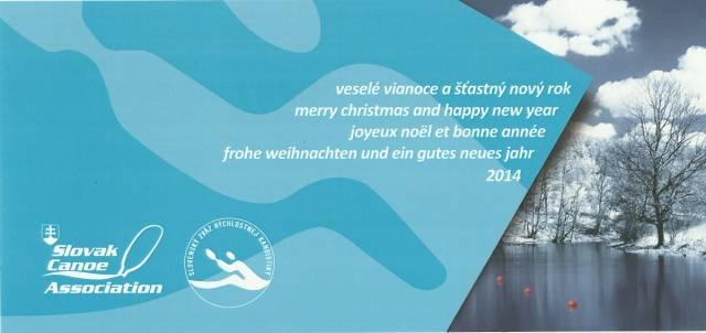 9bb4305e25 Pokojné prežitie Vianoc a v novom roku 2014 veľa zdravia a úspechov želá Slovenský  zväz rýchlostnej kanoistiky.